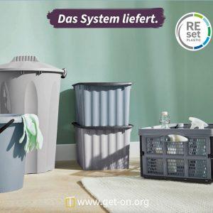 Recyceltes Plastik im Haushalt